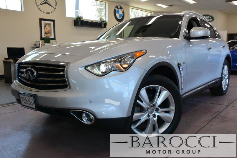 2014 Infiniti QX70 Base 4dr SUV 37L V6 7 Speed Auto Silver Black Child Safety Door Locks Po