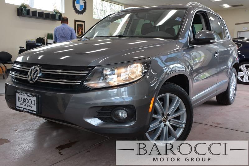 2014 Volkswagen Tiguan SEL 4dr SUV 6 Speed Auto Gray Black Up for sale is a striking one owner