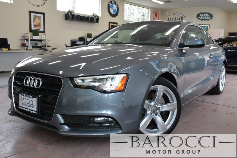 2014 Audi A5 20T quattro Premium AWD  2dr Coupe 8 Speed Auto Gray Black Navigation Rear View