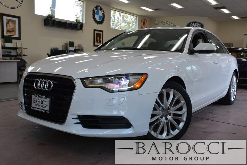2014 Audi A6 20T Premium 4dr Sedan Automatic White Black ABS Air Conditioning Alarm Alloy W