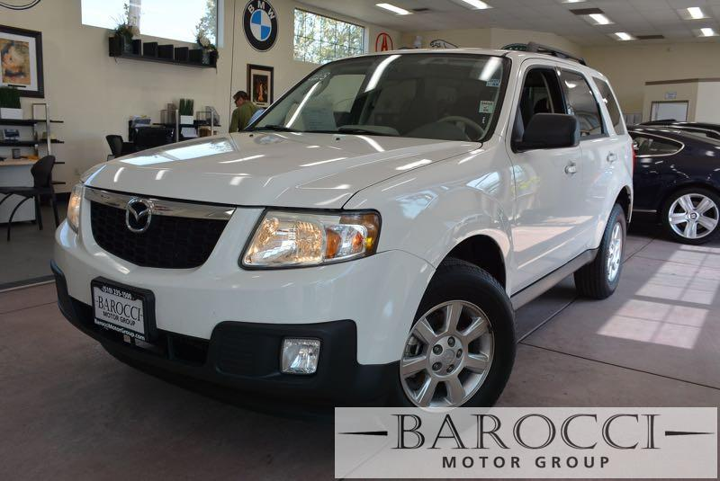 2011 Mazda Tribute i Touring AWD  4dr SUV 6 Speed Auto White Gray Child Safety Door Locks Powe