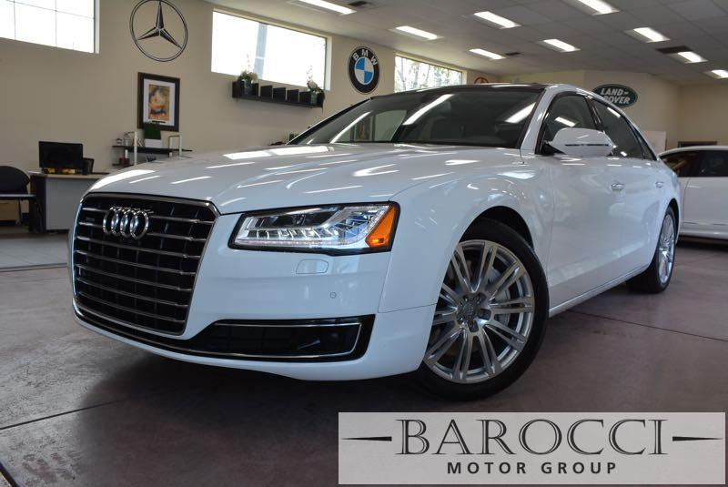 2015 Audi A8 40T quattro LWB AWD  4dr Sedan 8 Speed Auto White Gray You are looking at a delig