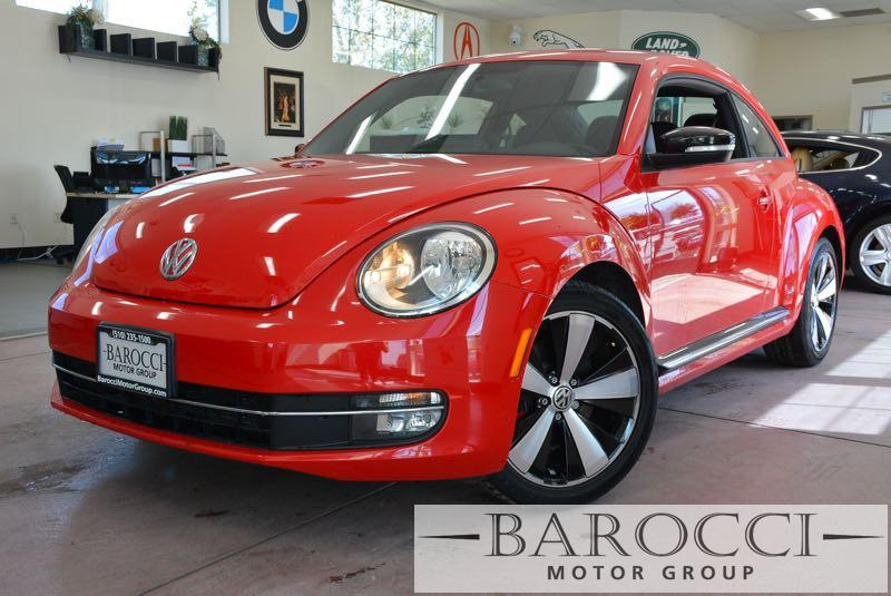 2012 Volkswagen Beetle Turbo PZEV 2dr Hatchback 6A 6 Speed Auto Red Black Up for sale is a fabu