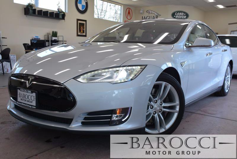 2013 Tesla Model S Base 4dr Liftback 85 kWh 1 Speed Auto Silver Off White You are looking at