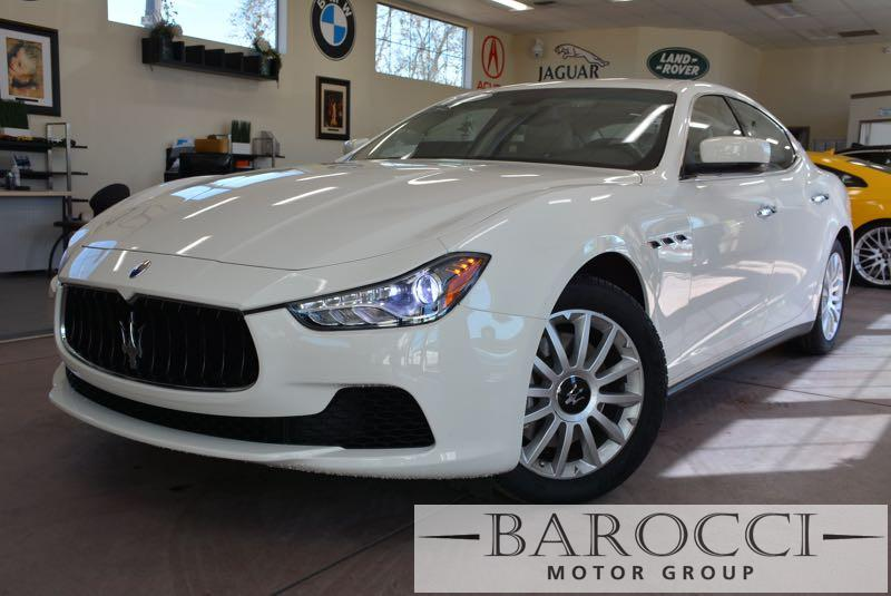 2014 Maserati Ghibli 4dr Sedan 8 Speed Auto White We are excited to offer a fabulous one owner 2