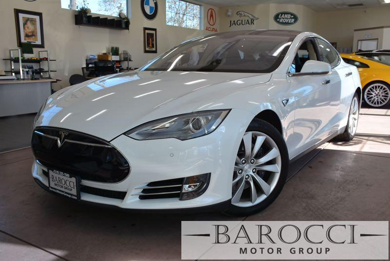 2013 Tesla Model S 4dr Liftback 85 kWh 1 Speed Auto White Black You are looking at an excelle