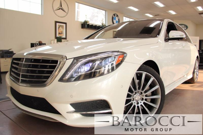 2015 MERCEDES S-Class S 550 4dr Sedan 7 Speed Auto White Dk Brown Up for sale is a sublime one