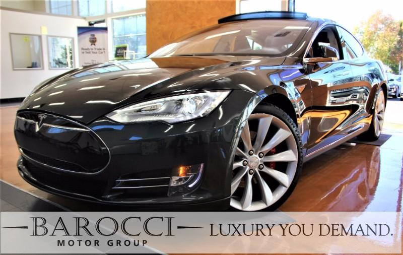 2014 Tesla Model  S P85 4dr Liftback 1 Speed Auto Green Black Now for sale is a very nice one o