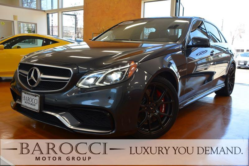 2014 MERCEDES E-Class E 63 AMG AWD  4MATIC 4dr Sedan 7 Speed Auto Gray Black Luxury You Demand