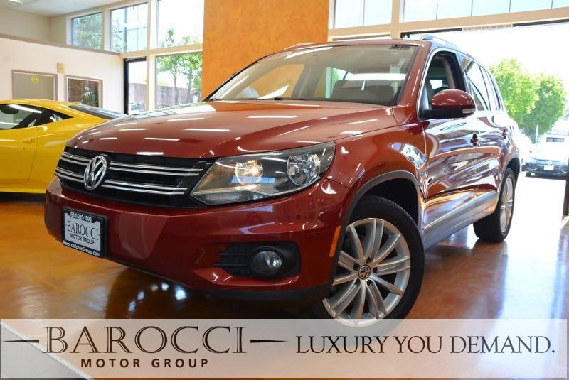 2014 Volkswagen Tiguan SEL 4dr SUV 6 Speed Auto Red Now for sale is a great one owner 2014 Volks