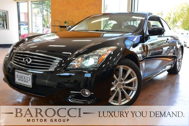 2012 INFINITI G37 Convertible 2dr Convertible 7 Speed Auto Black Now offering a wonderful one ow