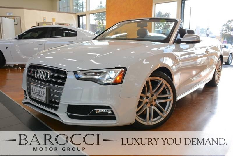 2015 Audi S5 30T Quattro Prestige Cabriolet AWD 7 Speed Auto White We are proud to offer a very